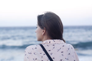 Depression in Teen Girls - Girl looking off into the water